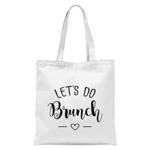 Lets Do Brunch Tote Bag - White