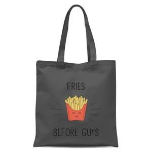 Fries Before Guys Tote Bag - Grey
