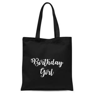 Birthday Girl Tote Bag - Black