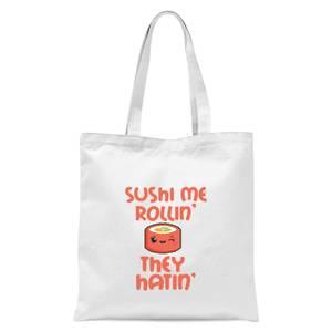 Sushi Me Rollin' Tote Bag - White