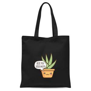 Aloe You Vera Much Tote Bag - Black