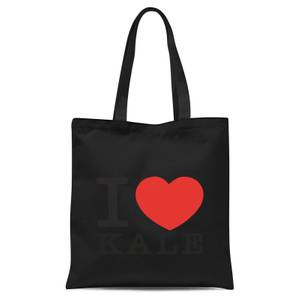 I Heart Kale Tote Bag - Black
