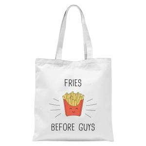 Fries Before Guys Tote Bag - White