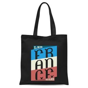 Les Tricolores Tote Bag - Black