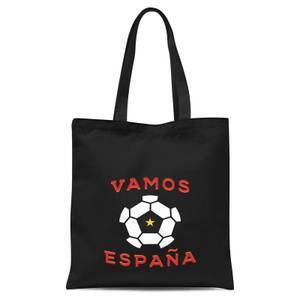 Vamos Espana Tote Bag - Black