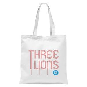 Three Lions Tote Bag - White