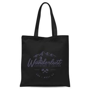 Wanderlust Tote Bag - Black