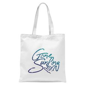 Gone Surfing Tote Bag - White