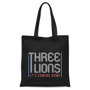 Three Lions Its Coming Home Tote Bag - Black