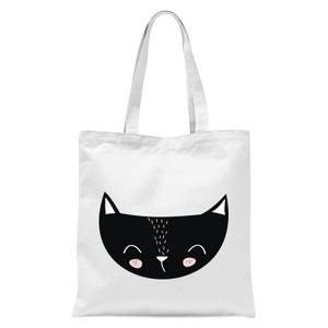 Cat Tote Bag - White