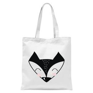 Fox Tote Bag - White