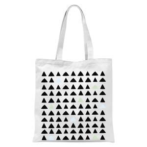 Triangles Tote Bag - White