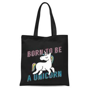 Born To Be A Unicorn Tote Bag - Black