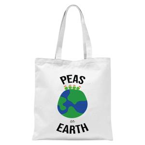 Peas On Earth Tote Bag - White