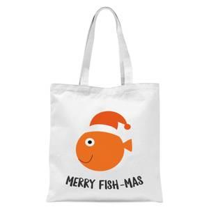 Merry Fish-Mas Tote Bag - White