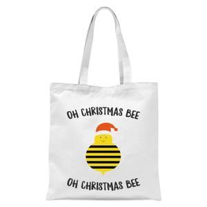 Oh Christmas Bee Oh Christmas Bee Tote Bag - White