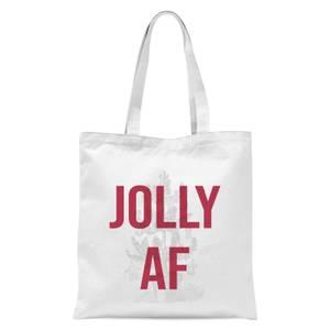 Jolly AF Tote Bag - White