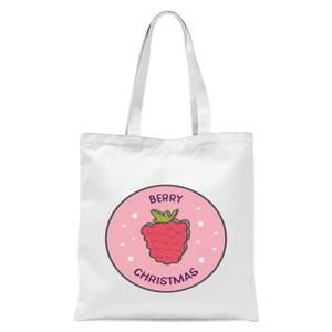 Berry Christmas Tote Bag - White