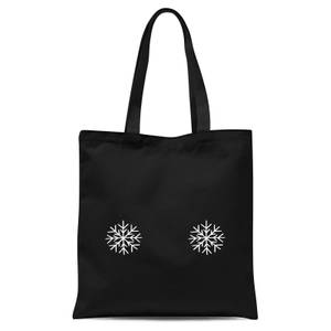 Snowflakes Tote Bag - Black