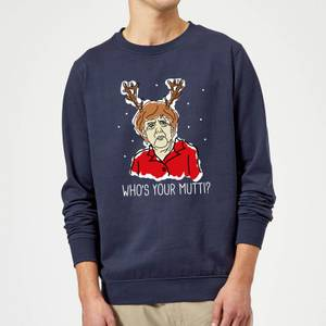 Who's Your Mutti? Christmas Sweatshirt - Navy