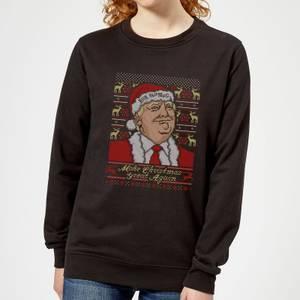 Make Christmas Great Again Women's Christmas Sweatshirt - Black