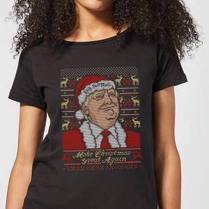 Make Christmas Great Again Women's Christmas T-Shirt - Black