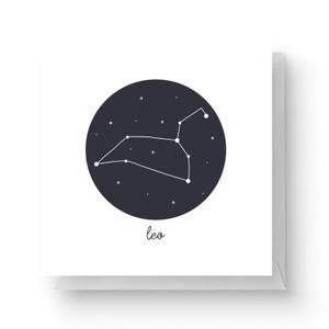 Leo Square Greetings Card (14.8cm x 14.8cm)