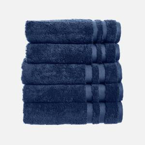 in homeware 100% Egyptian Cotton Pile 5 Piece Towel Bale - Blue