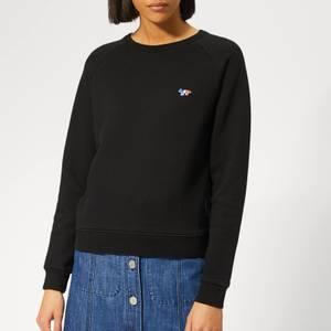 Maison Kitsuné Women's Sweatshirt Tricolor Fox Patch - Black