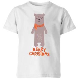 Beary Christmas Kids' T-Shirt - White