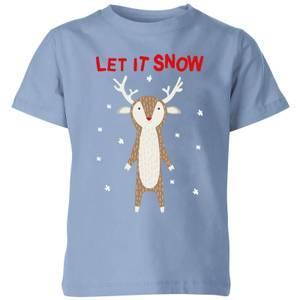 Let It Snow Kids' T-Shirt - Sky Blue
