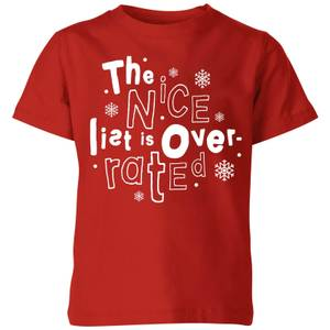 The Nice List Is Overrated Kids' T-Shirt - Red