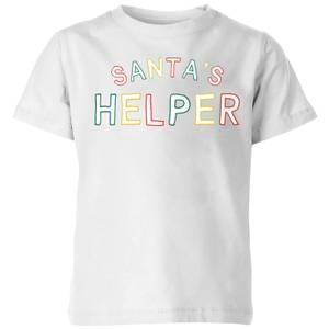 Santa's Helper Kids' T-Shirt - White