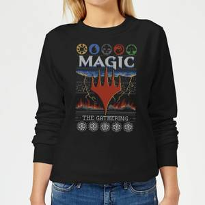 Magic The Gathering Colours Of Magic Knit Women's Christmas Sweater - Black