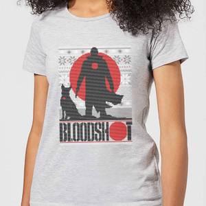 Valiant Bloodshot Women's Holiday T-Shirt - Grey
