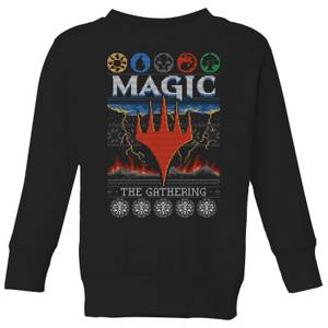 Pull de Noël Enfant Magic: The Gathering Colours Of Magic - Noir