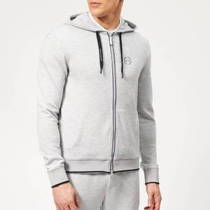 Armani Exchange Men's Small Logo Zip Hoody - Heather Grey