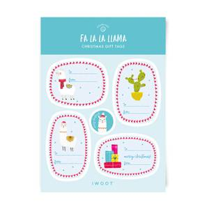 Fa La La Llama Christmas Gift Tag Pack