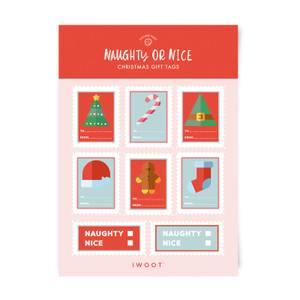 Naughty or Nice Christmas Gift Tag Pack