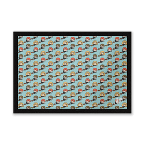 Harry Potter Characters Pattern Entrance Mat