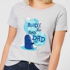 Elf Bye Buddy Women's Christmas T-Shirt - Grey