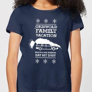 National Lampoon Griswold Vacation Ugly Knit Women's Christmas T-Shirt - Navy