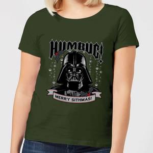 Star Wars Darth Vader Humbug Women's Christmas T-Shirt - Forest Green