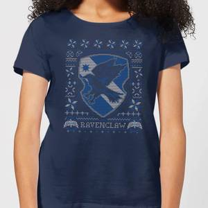 Harry Potter Ravenclaw Crest Women's Christmas T-Shirt - Navy