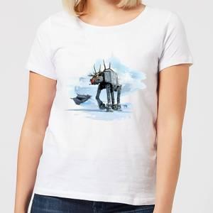 Star Wars AT-AT Reindeer Women's Christmas T-Shirt - White