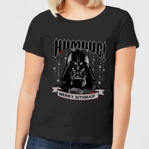 Star Wars Darth Vader Humbug Women's Christmas T-Shirt - Black