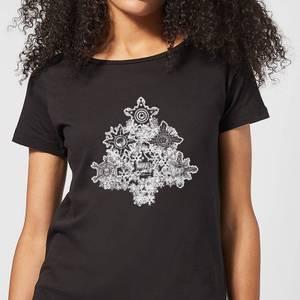 Marvel Shields Snowflakes Women's Christmas T-Shirt - Black