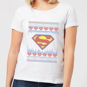 DC Supergirl Knit Women's Christmas T-Shirt - White