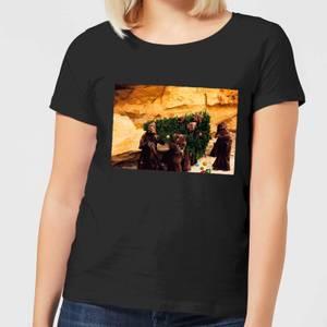 Star Wars Jawas Christmas Tree Women's Christmas T-Shirt - Black