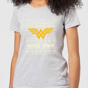 DC Wonder Woman Women's Christmas T-Shirt - Grey